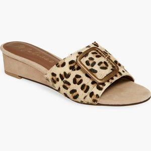 MATISSE Ever After Leopard Wedge Heel Slide Sandal